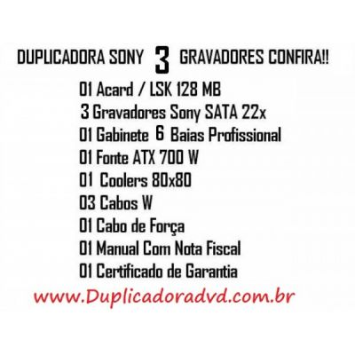 dUPLICADORA DE DVD E CD, cOPIADORA DE DVD E CD, TORRE DE DVD E CD, A PRONTA ENTREGA!