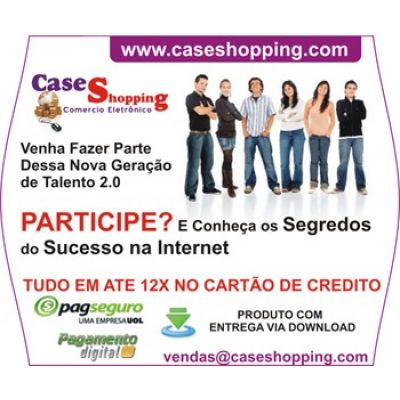 Loja Virtual Case Shopping Vendas de Ebooks Digital Internet