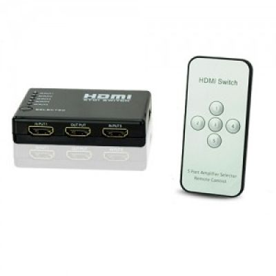 5 porta de vídeo 1080p HDMI Splitter Switcher Mudar para HDTV PS3 DVD com IR Remote-MADE IN CHINA.