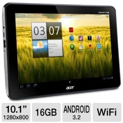 Acer Iconia Tab A200-10g16u XE.H8QPN.001 Tablet - 3,2 Android Honeycomb, a NVIDIA Tegra 2 Dual-Core