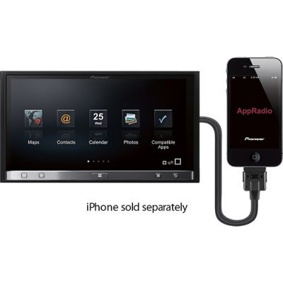 Pioneer - MOSFET AppRadio o painel de Fev. 50 watts x 4 pronto para Apple iPod ®1 ®-MADE IN USA