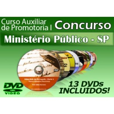 Vídeo Curso do Concurso MP-SP 2014 - Auxiliar de Promotoria I em 13 DVDs