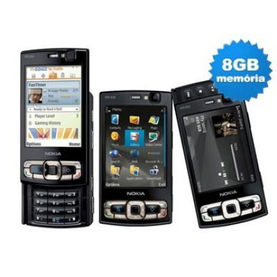Smartphone 3G Nokia N95 8GB Black - Câmera 5.0MP +MP3 Player +Bluetooth +GPS +Wi-Fi